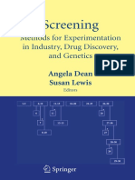 Screening - Methods for Experimentation in Industry, Drug Discovery and Genetics