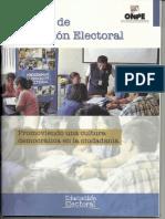 ONPE. Cartilla de educación electoral