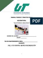 Manual de Prácticas de Electronica Analogica