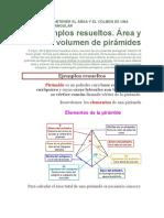 Fórmula Para Obtener El Área y El Volmen de Una Pirámide Cuadrangular