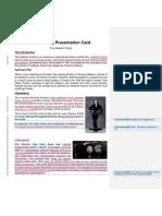Gothic Text Presentation