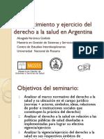 Reconocimiento y Ejercicio Del Derecho a La Salud en Argentina