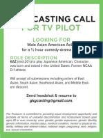 Casting Flyer