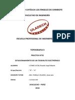 ESTACIONAMIENTO DE TEODOLITO ELECTRÓNICO