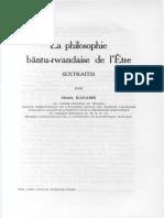 Hum.Sc.(NS)_T.VI,1_KAGAME A._La philosophie bantu-rwandaise de l'Être_1955