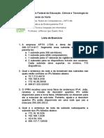 Lista de Questoes - VLSM