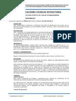 Especificaciones Tecnicas Estructuras Huanaspampa