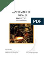 Conformado e Instrucciónes de Elaboración de Metales