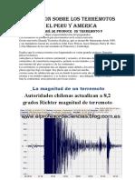 Asignacion Sobre Los Terremotos en El Peru y America