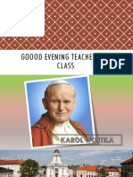 Goood Evening Teacher and Class