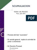 Acumulacion y Litisconsorcio 2016-1