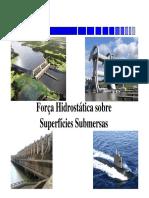 Força Hidrostática Sobre Superfícies Planas Submersas