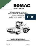O&M BW219 DH-4, BW 219 PDH-4 00804003 (2014) - Español