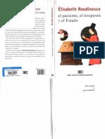 El paciente, el terapeuta y el Estado [Élisabeth Roudinesco].pdf