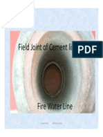 Field Joint of Cement-lined Pipe
