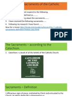 what are the sacraments of the catholic church 1
