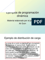 Problemas de Programacion Dinamica