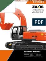 Catalogo Excavadora Hidraulica Zaxis 280lcn Hitachi