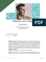 Nicolás Zavadivker_ Wittgenstein_ ética y lenguaje- nº 46 Espéculo (UCM)