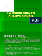 La Sociologia en Cuanto Ciencia - Copia