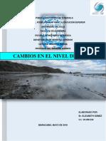 Informe Cambio Del Nivel Del Mar