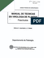 Manual de Técnicas en Virología de Las Plantas
