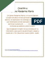 Oración a Sta Margarita María