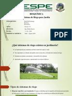 Sistema de Riego Para Jardin
