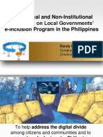 Institutional and Non-Institutional Influences on Local Governments' e-Inclusion Program in the Philippines
