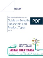 Guide on Selecting Subsectors and Product Types Ver 2.0