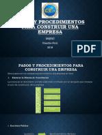 Pasos y Procedimientos Para Construir Una Empresa