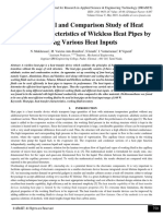 Experimental and Comparison Study of Heat Transfer Characteristics of Wickless Heat Pipes by using Various Heat Inputs