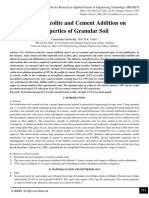 Effect of Zeolite and Cement Addition on Properties of Granular Soil