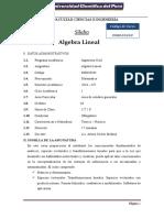 Silabo Algebra Lineal 2018 - Cv