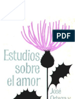 Ortega y Gasset - Estudios sobre el amor