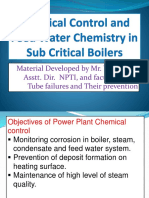 Chemical Control and Feed Water Chemistry