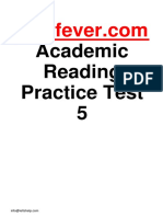 Ieltsfever Academic Reading Practice Test 5 PDF