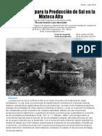 La Tecnología para la Producción de Sal en la Mixteca Alta