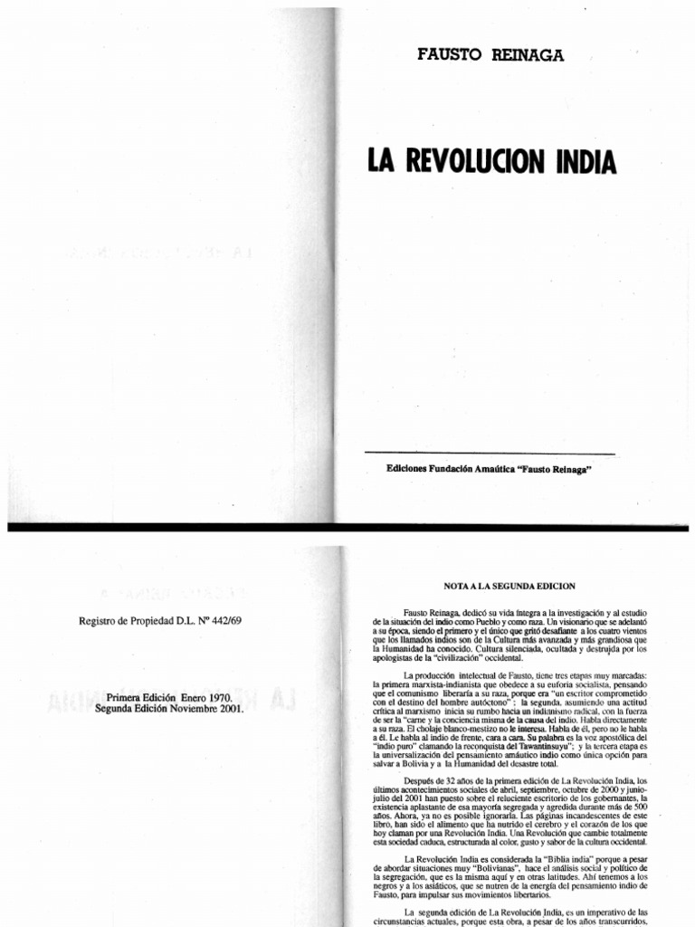 Fausto Reinaga. La Revolucion India