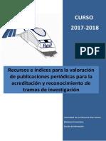 Recursos e Indices Para La Valoracion de Publicaciones Periodicas