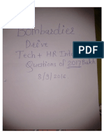 Bombardier Interview Questions