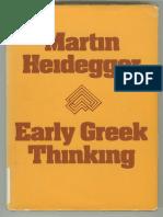 Heidegger EarlyGreek