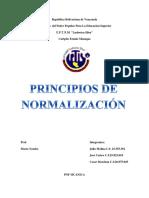 Principios de normalizacion