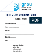 TMA Cover Page A4 Format 1