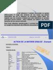 Action de La Matiere Ensilee - Exemple