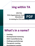 Coaching Within TA - Prezentacja (Hay J.)