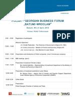 Agenda Forum in Batum and Tbilisi