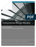 instructional design models comparison paper