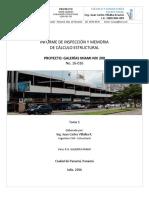 Evaluación de capacidad de estructura edificio