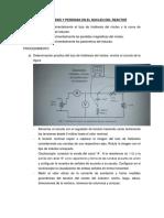El Ciclo de Histeresis y Perdidas en El Nucleo Del Reactor